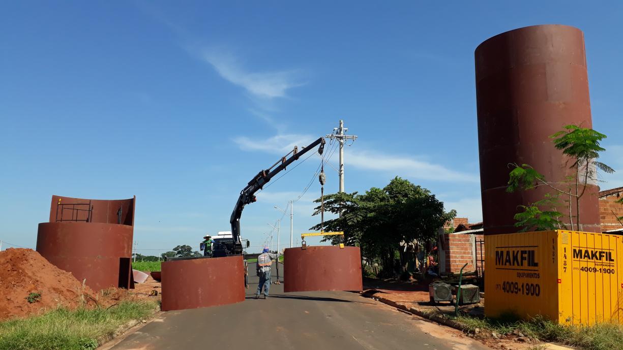 Construção do novo reservatório de água na Zona Norte segue a todo vapor