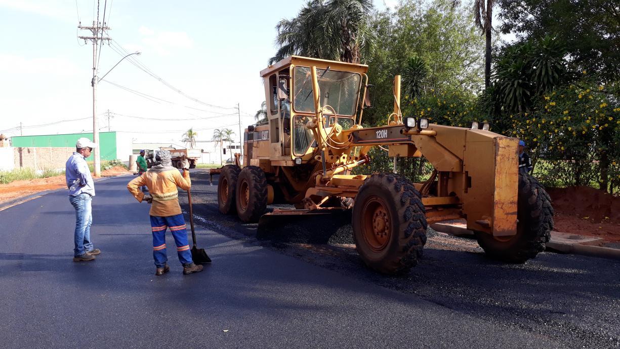Prefeitura finaliza obra de pavimentação da Rua Acácio Lemes de Faria