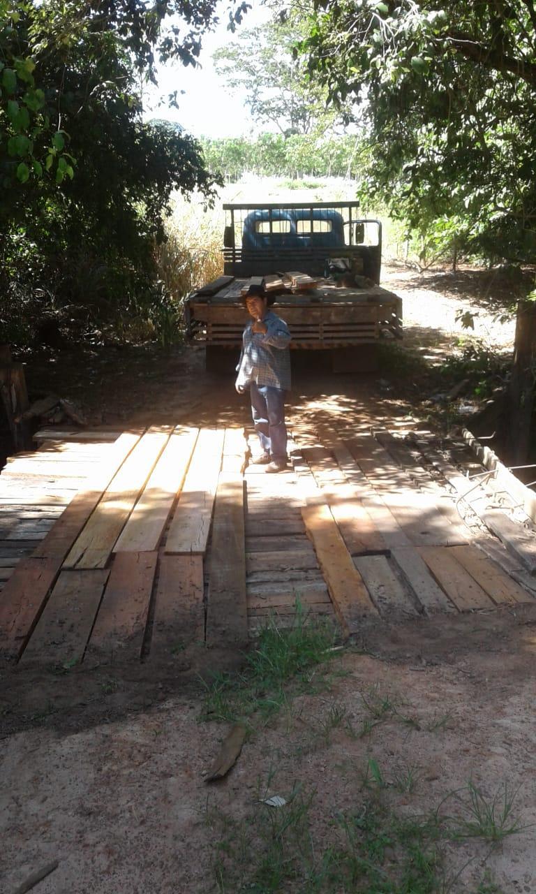 A Prefeitura realiza reparos em mais uma ponte na região da Fortaleza