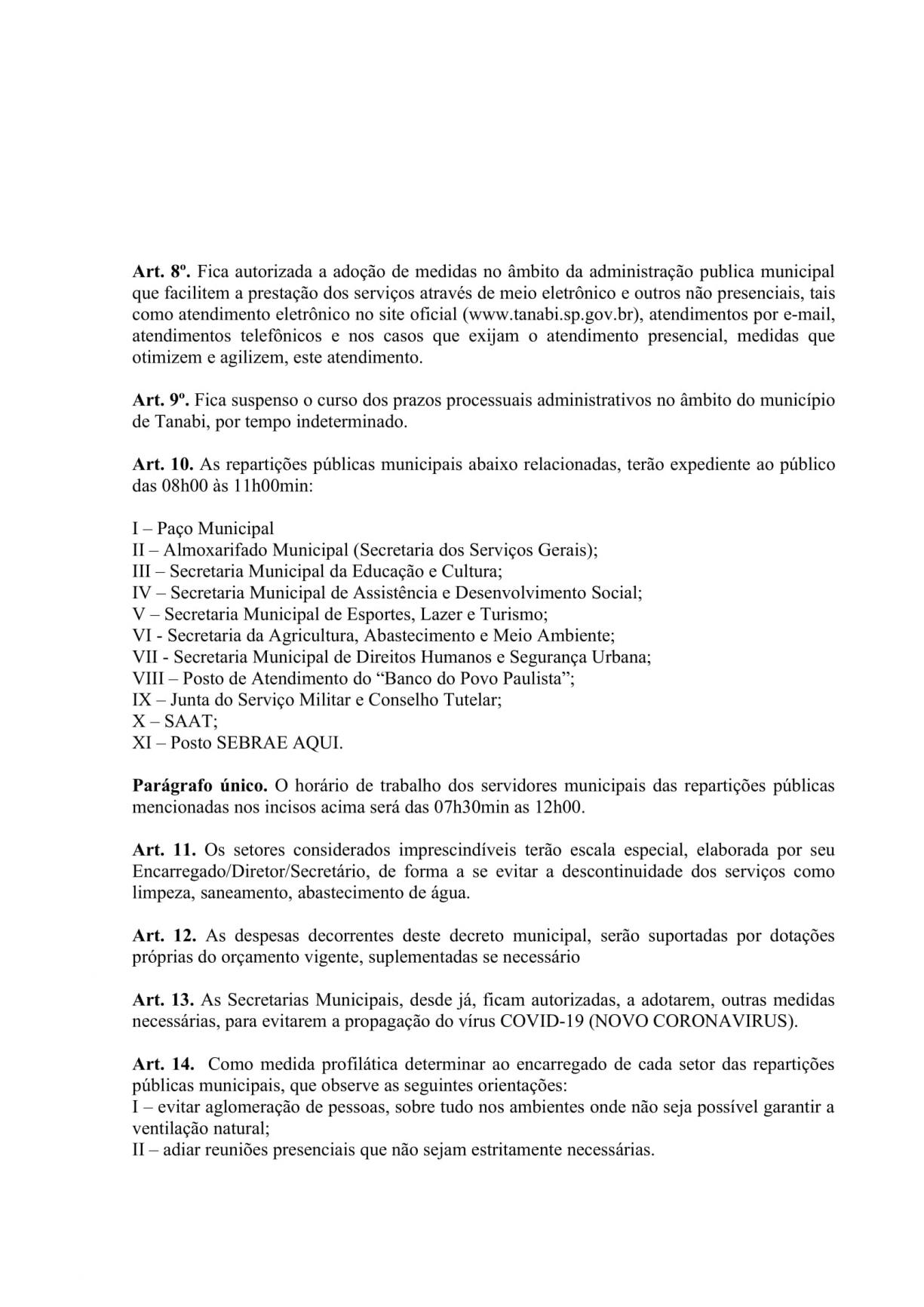 """Prefeito Norair Cassiano da Silveira decretou """"Situação de Estado de Emergência em Saúde Pública"""" no município"""