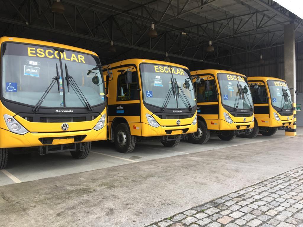 Tanabi recebeu na manhã de hoje 05 novos ônibus escolares da Secretaria Estadual da Educação