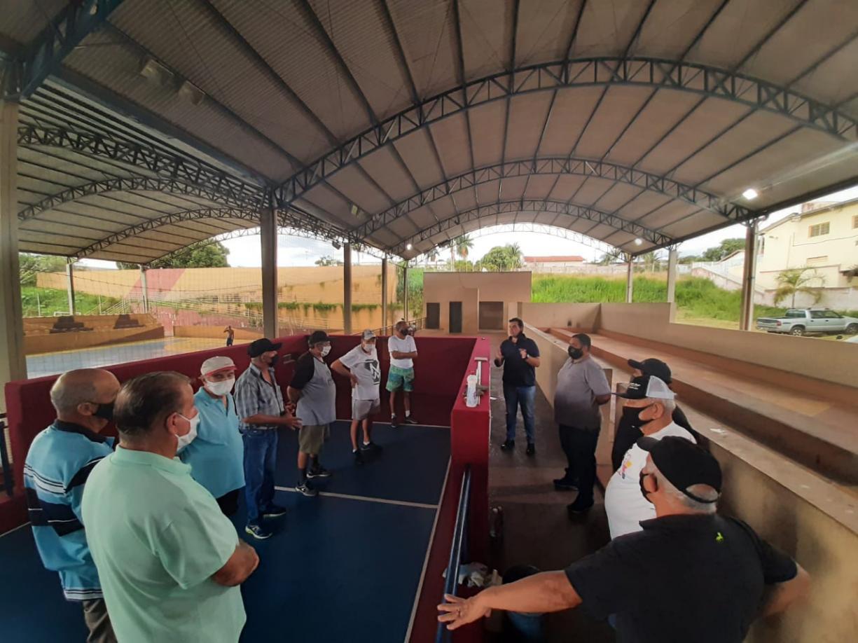 Cancha de bocha é reinaugurada em Tanabi