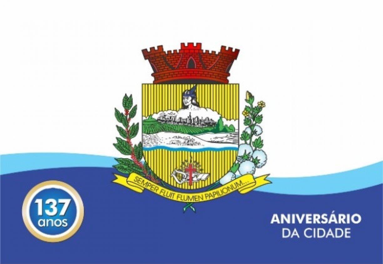 CONVITE PARA OS FESTEJOS DE ANIVERSÁRIO DOS 137 ANOS DE TANABI