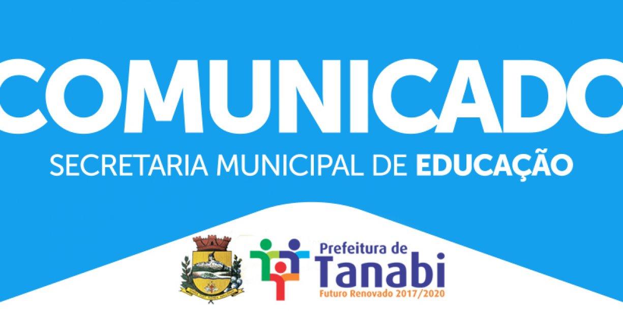 COMUNICADO - SECRETARIA MUNICIPAL DE EDUCAÇÃO