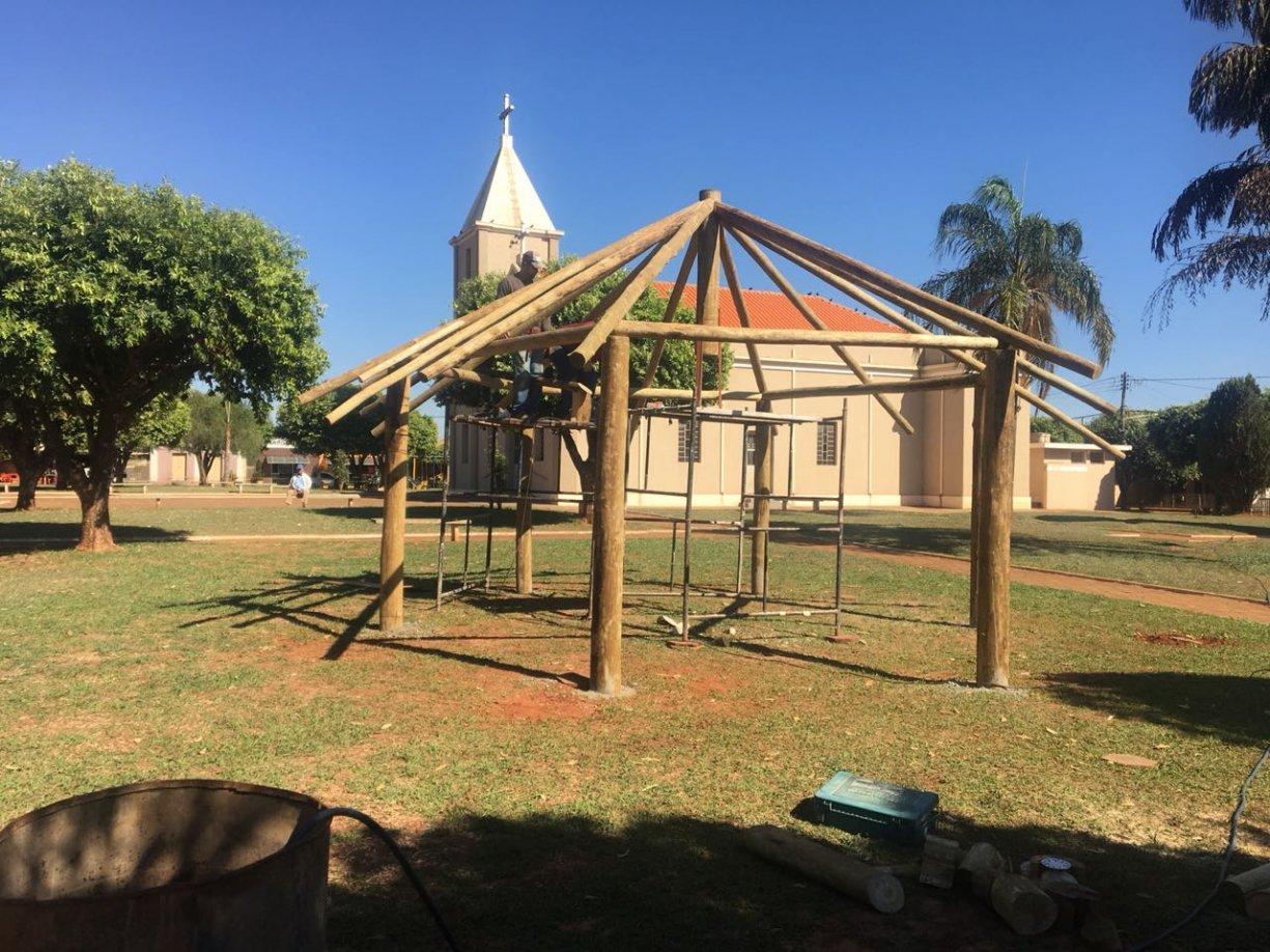 Prefeitura de Tanabi está revitalizando a praça do bairro de Ibiporanga