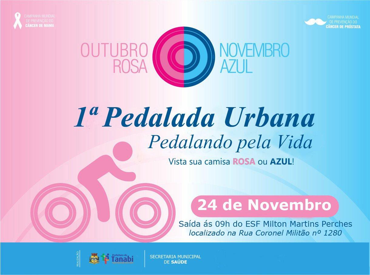 "Saúde de Tanabi realiza neste sábado, dia 24, a ""1ª Pedalada Urbana do Outubro Rosa e Novembro Azul"""