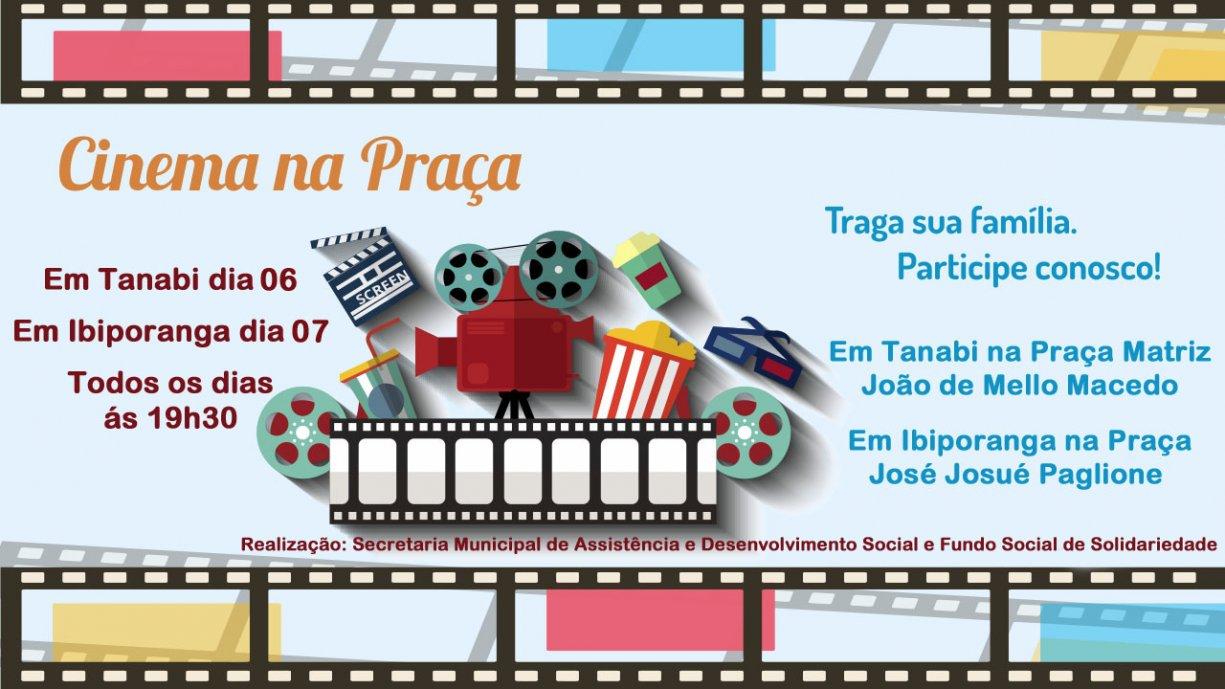 Prefeitura trás dia 06 e 07 cinema de graça para Tanabi e Ibiporanga