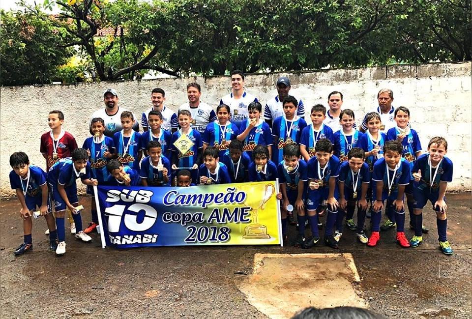 Equipe de Futebol Infantil Sub-10 de Tanabi conquista o título da Copa AME 2018
