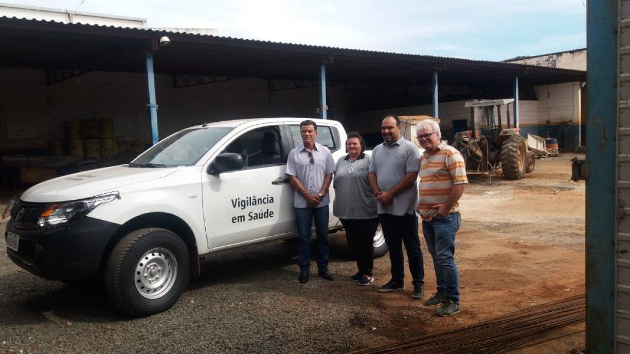 SUCEN de Tanabi recebe nova caminhonete para reforçar combate ao mosquito Aedes aegypti