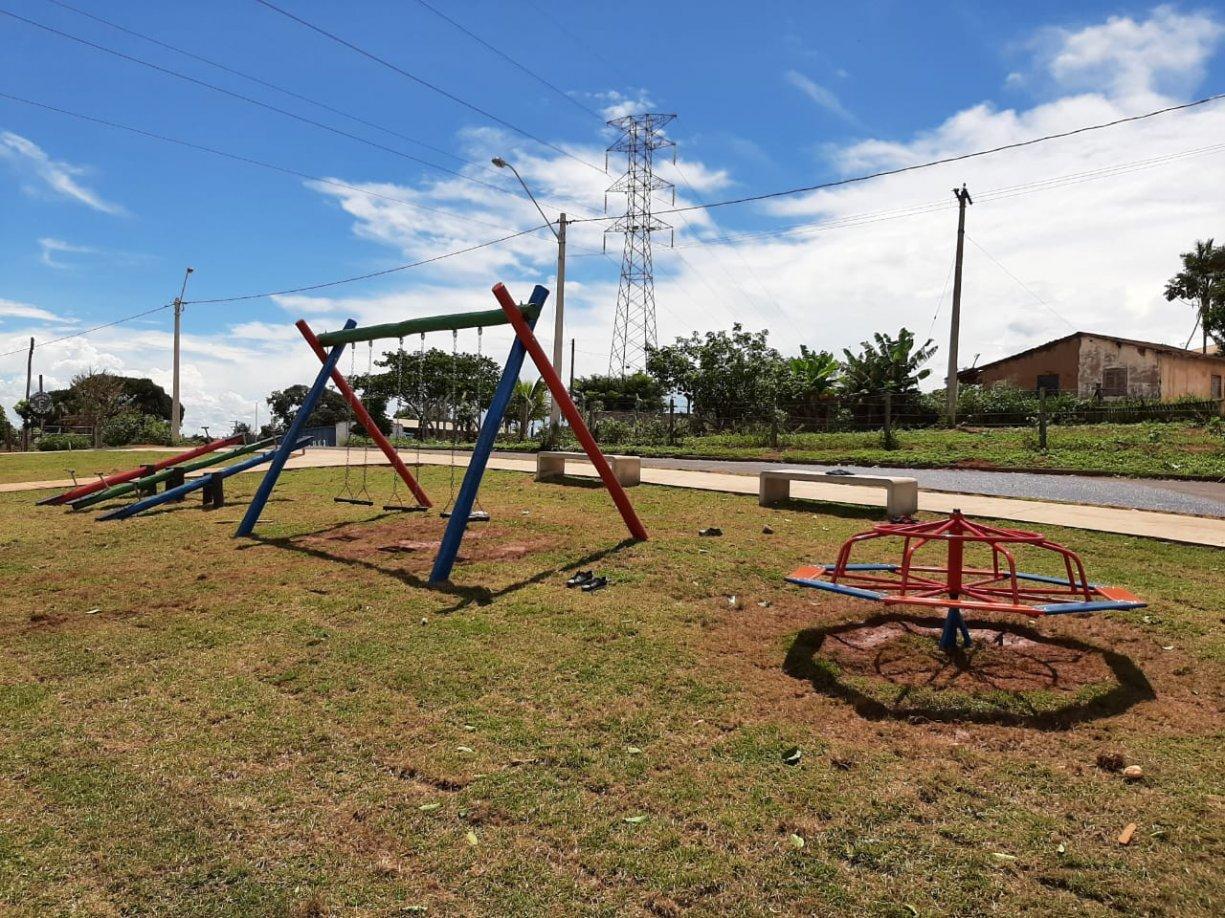 Construção da Praça no Sítio do Estado está em fase adiantada
