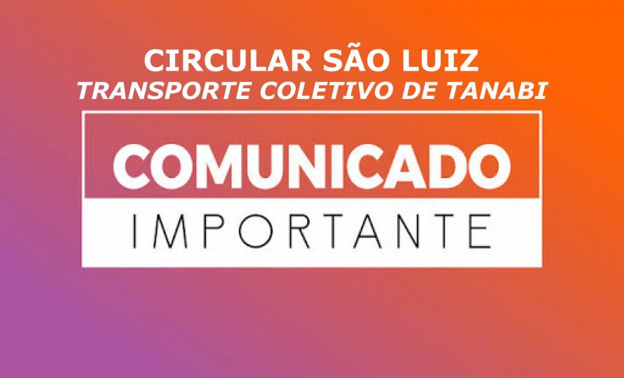 COMUNICADO CIRCULAR SÃO LUIZ