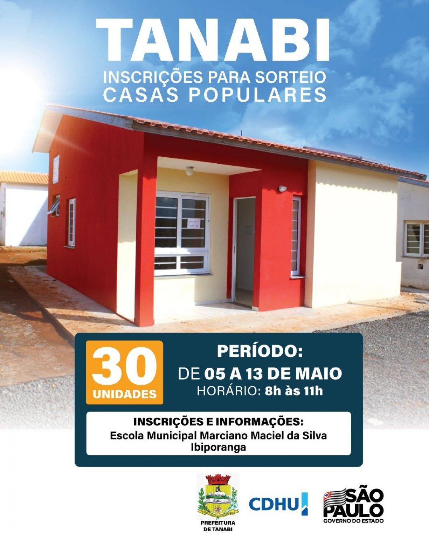 CDHU Ibiporanga - Atenção Inscrições Somente pelo Site: www.cdhu.sp.gov.br