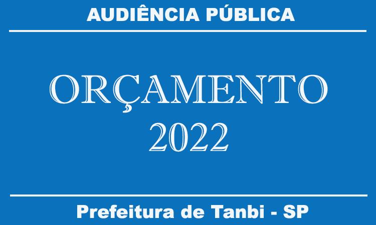 Audiência Pública On-Line - Projeto de Lei Orçamentária de 2022