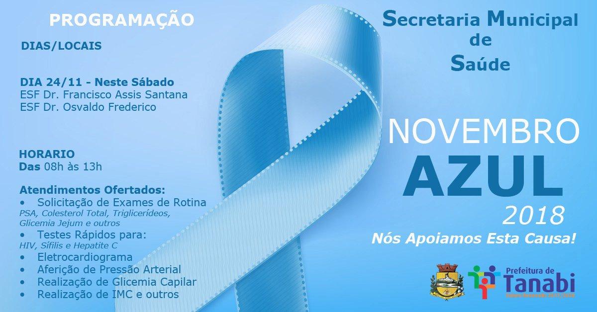 """Secretaria da Saúde realiza neste próximo sábado atividades de conscientização do """"Novembro Azul"""""""