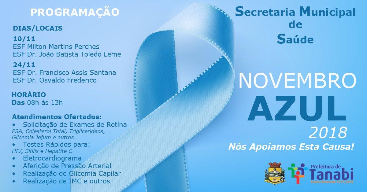 """Secretaria da Saúde realiza atividades de conscientização do """"Novembro Azul"""""""