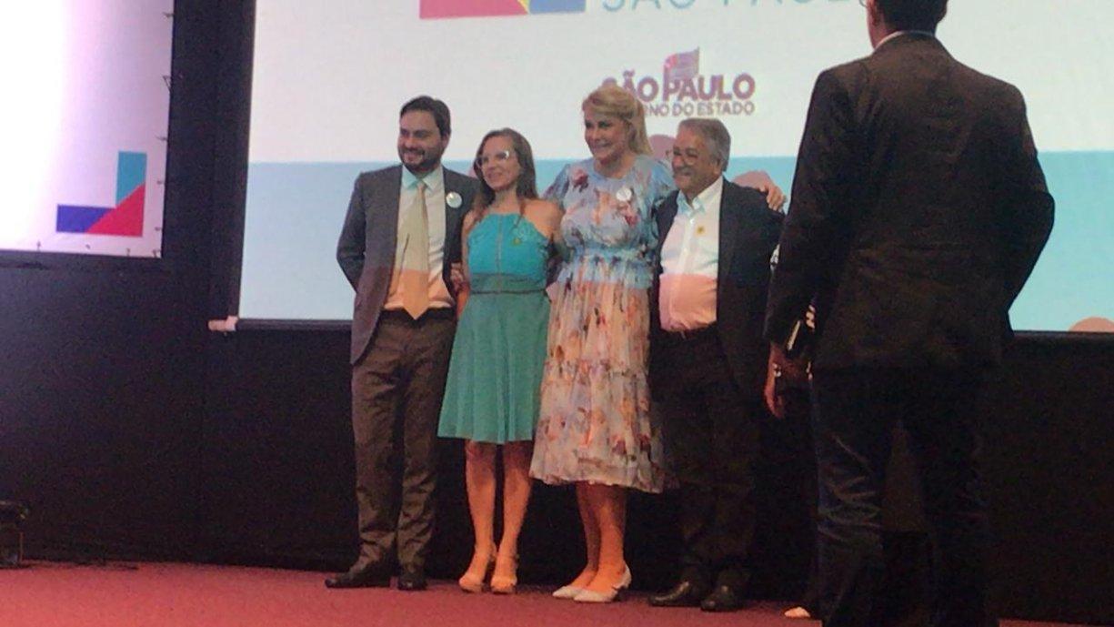 Primeira Dama Sandra e Prefeito Norair participaram de evento realizado pelo Fundo Social de SP no Palácio dos Bandeirantes